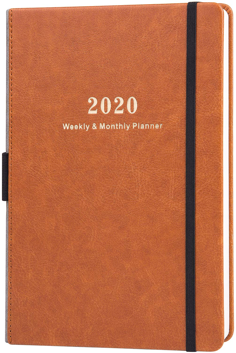 2020 Planner - Weekly & Monthly Planner with Calendar Stickers, A5 Premium Thicker Paper with Pen Holder, Inner Pocket and 88 Notes Pages by Lemome