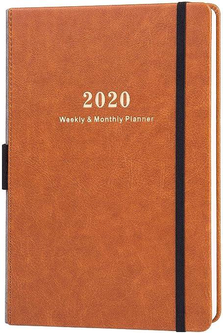 2020 Agenda - Planificador Semanal y Mensual con Calcomanías ...