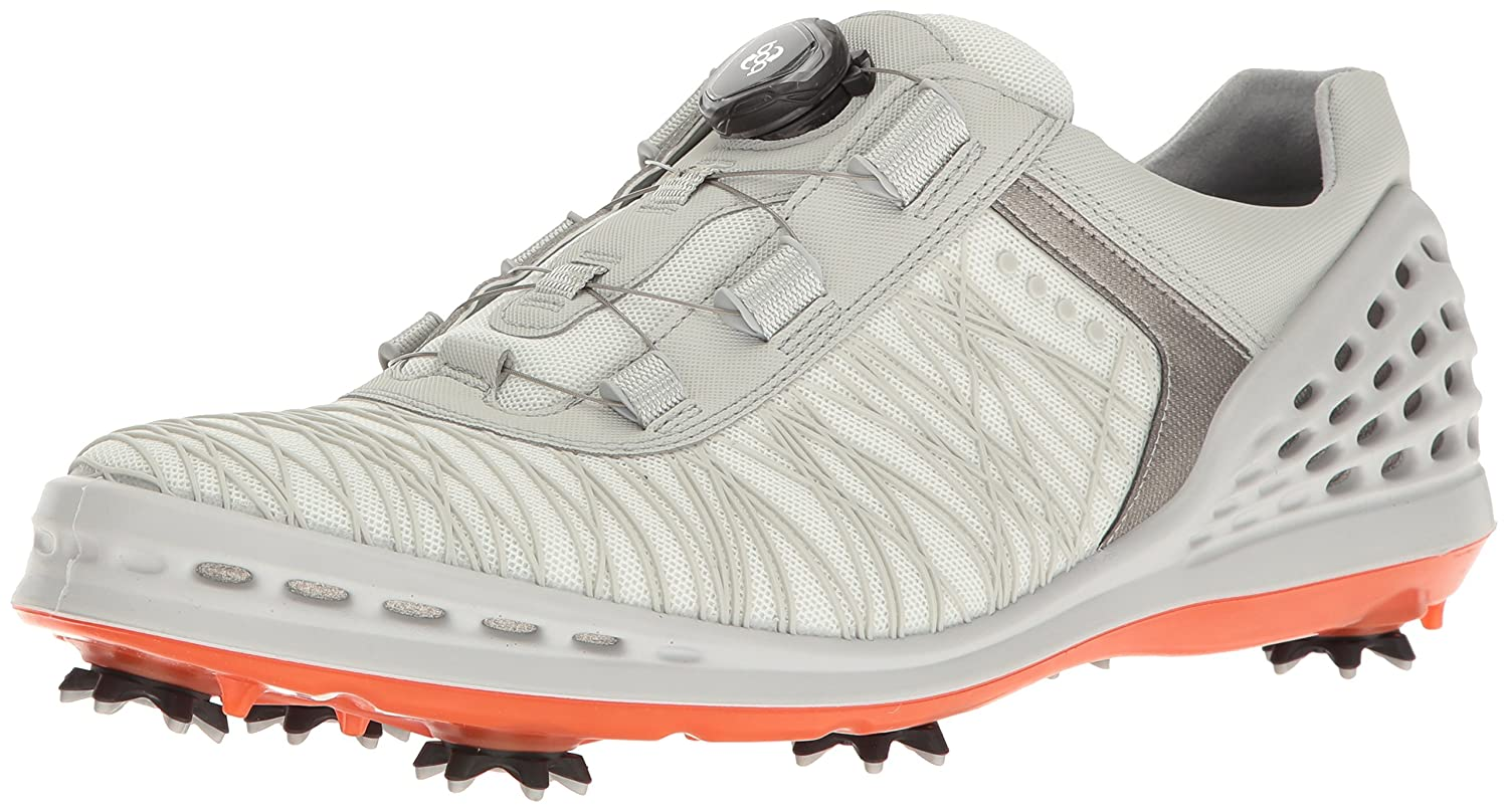 ECCO Men's Cage Evo Boa Golf Shoe B01KIHNCUE 41 EU/7-7.5 M US|Wei  (50410shadow White/Fire)