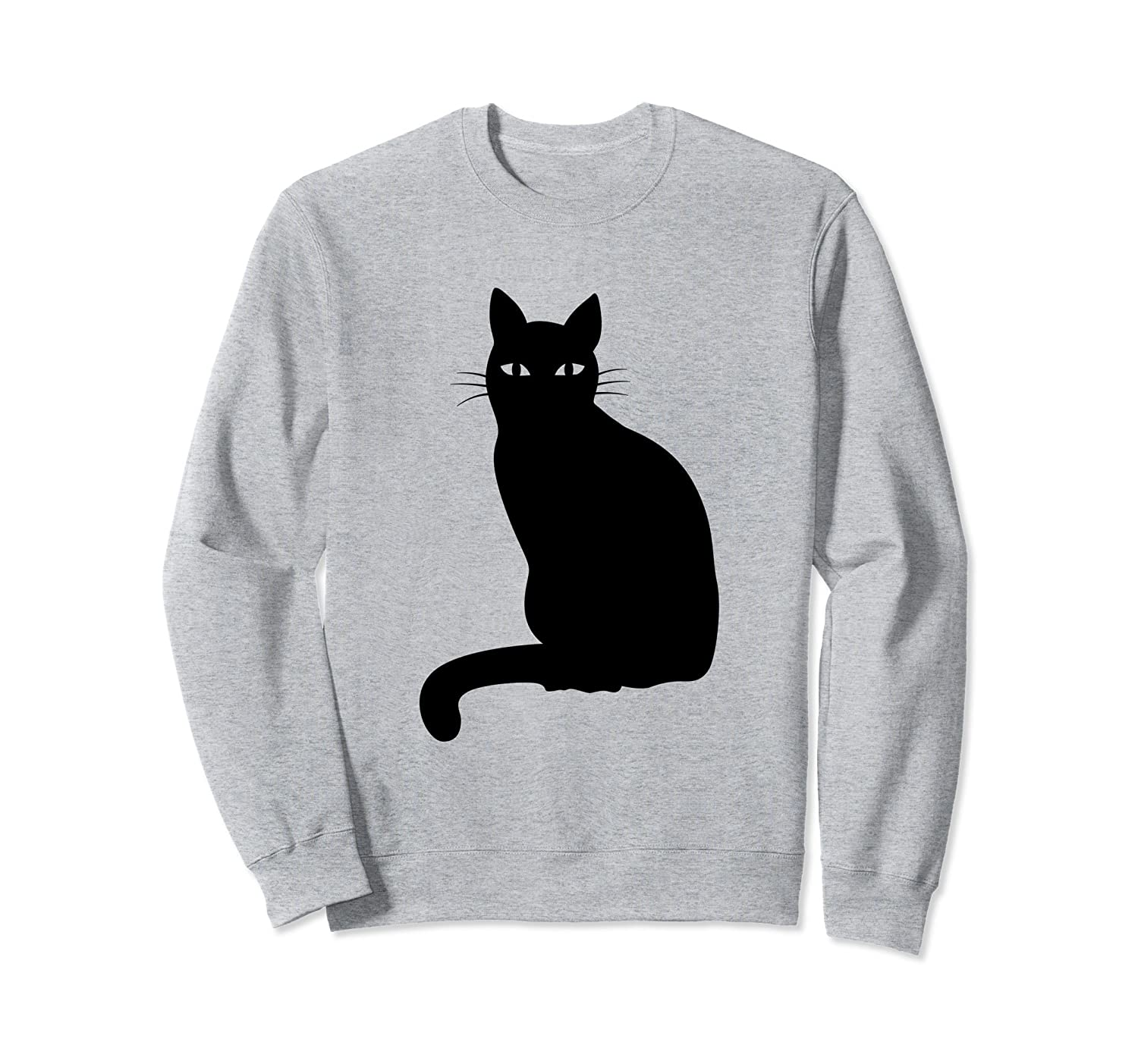 Black Cat Halloween Sweatshirt for Girls, Women, Men, Boys-mt