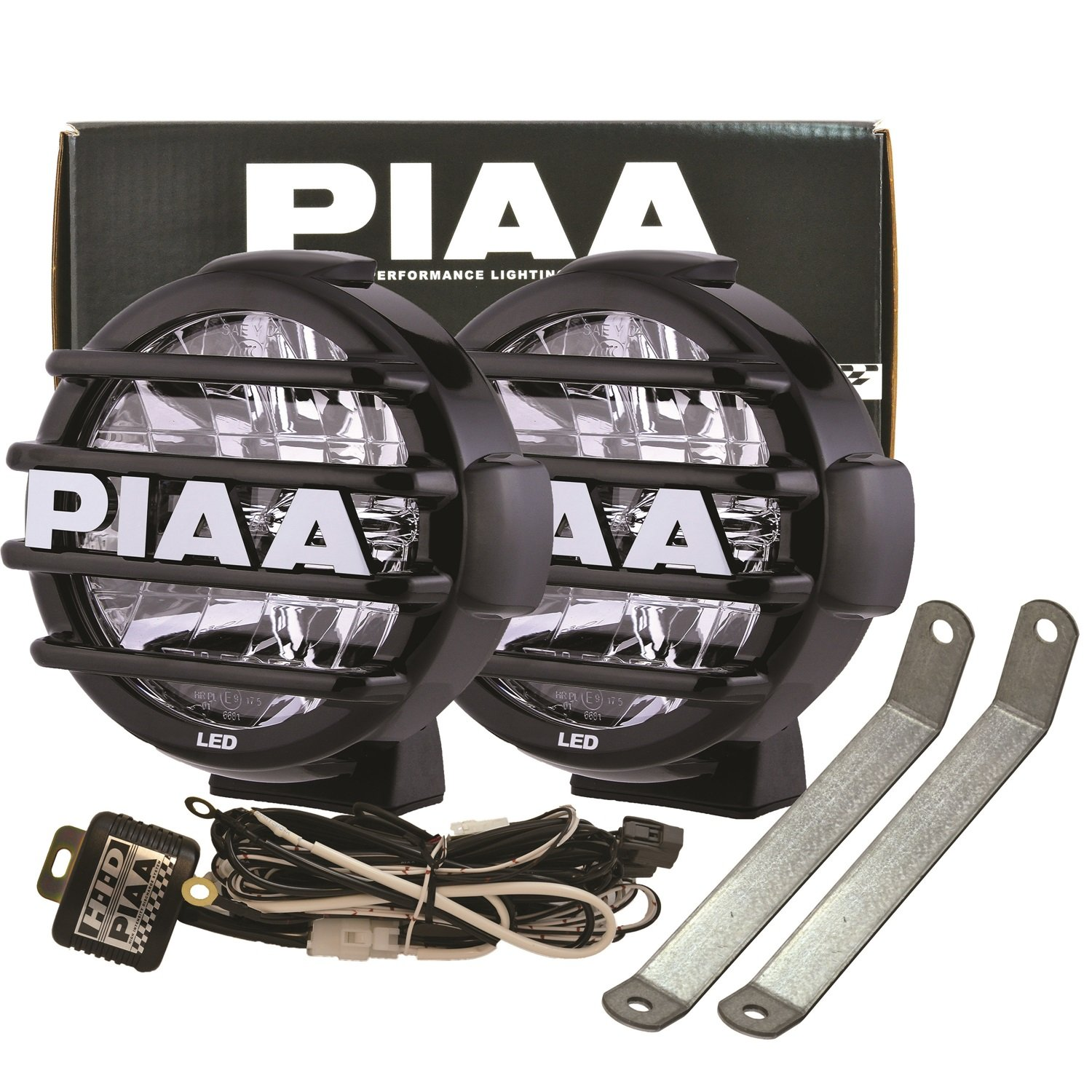81KPMygDFTL._SL1500_ amazon com piaa (5798) lp570 led driving light kit with brackets High Intensity LED Driving Lights at crackthecode.co