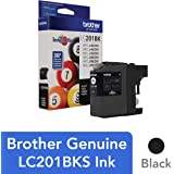 Brother Genuine Standard Yield Black Ink Cartridge, LC201BK, Replacement Black Ink, Page Yield Up To 260 Pages, Amazon Dash Replenishment Cartridge, LC201BK