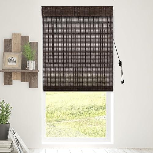 Chicology Bamboo Roman Shades / Wood Window Blind