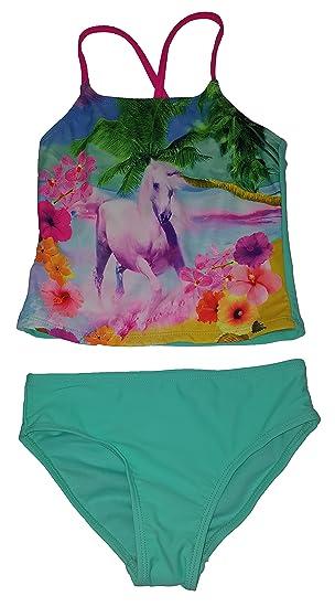 62c76df861 Amazon.com: Girls Beach Runner Aqua Mint 2 Piece Tankini: Clothing