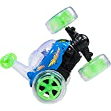 Top Race Remote Control Car Cyclone Twister RC Stunt Car with LED Lights and Music - BLUE- 49Mhz