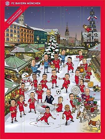 Fc Bayern Adventskalender 2016 Mit Schokolade Und Autogrammkarten
