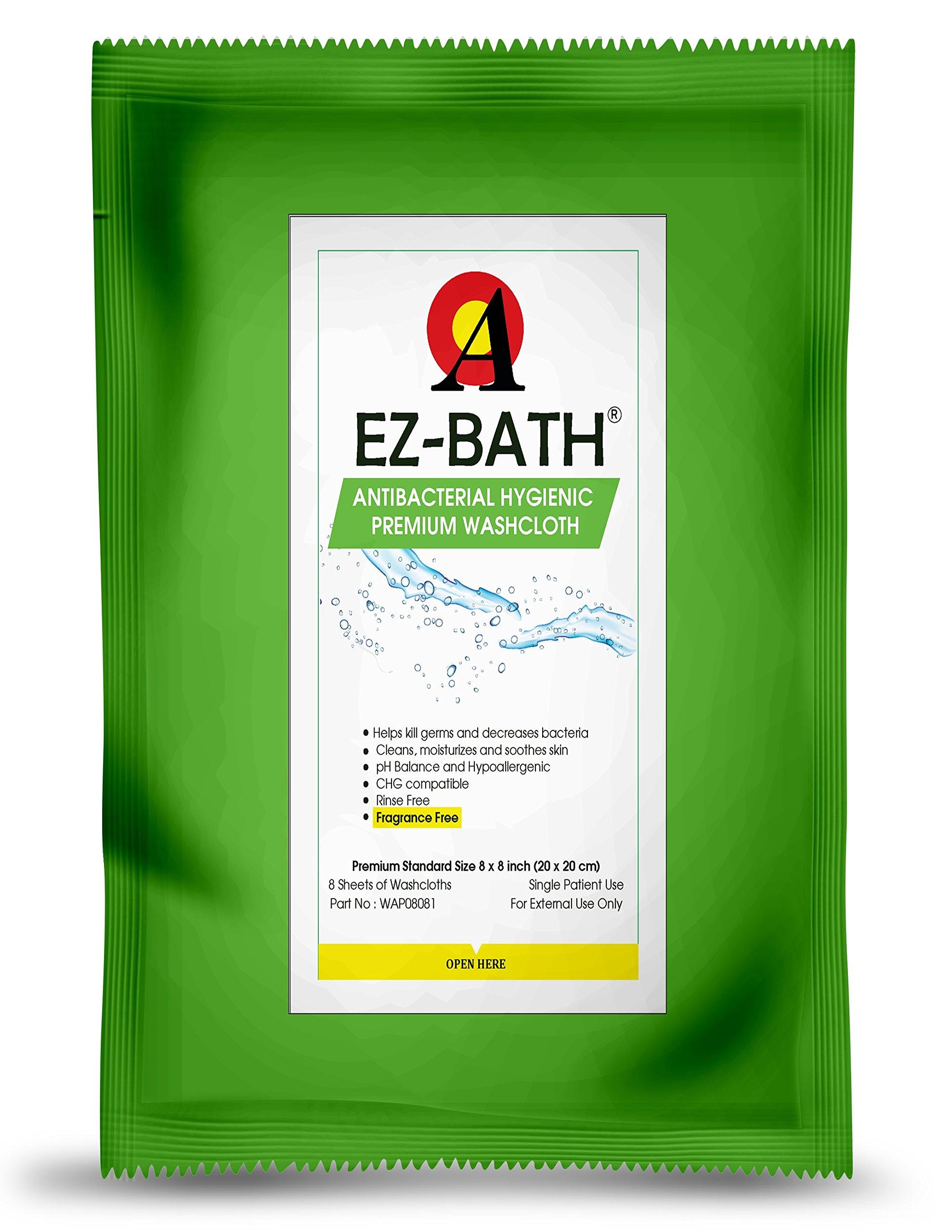 Antibacterial Body Washcloth, Unscented, Hygienic pH Balance(8 Sheets-14 Packs)
