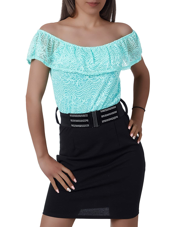 L145 Damen Kleid Kleider Cocktailkleid Sommerkleid Abendkleid Ballkleid Spitze