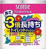 スコッティ フラワーパック 3倍長持ち 75m×4ロール ダブル