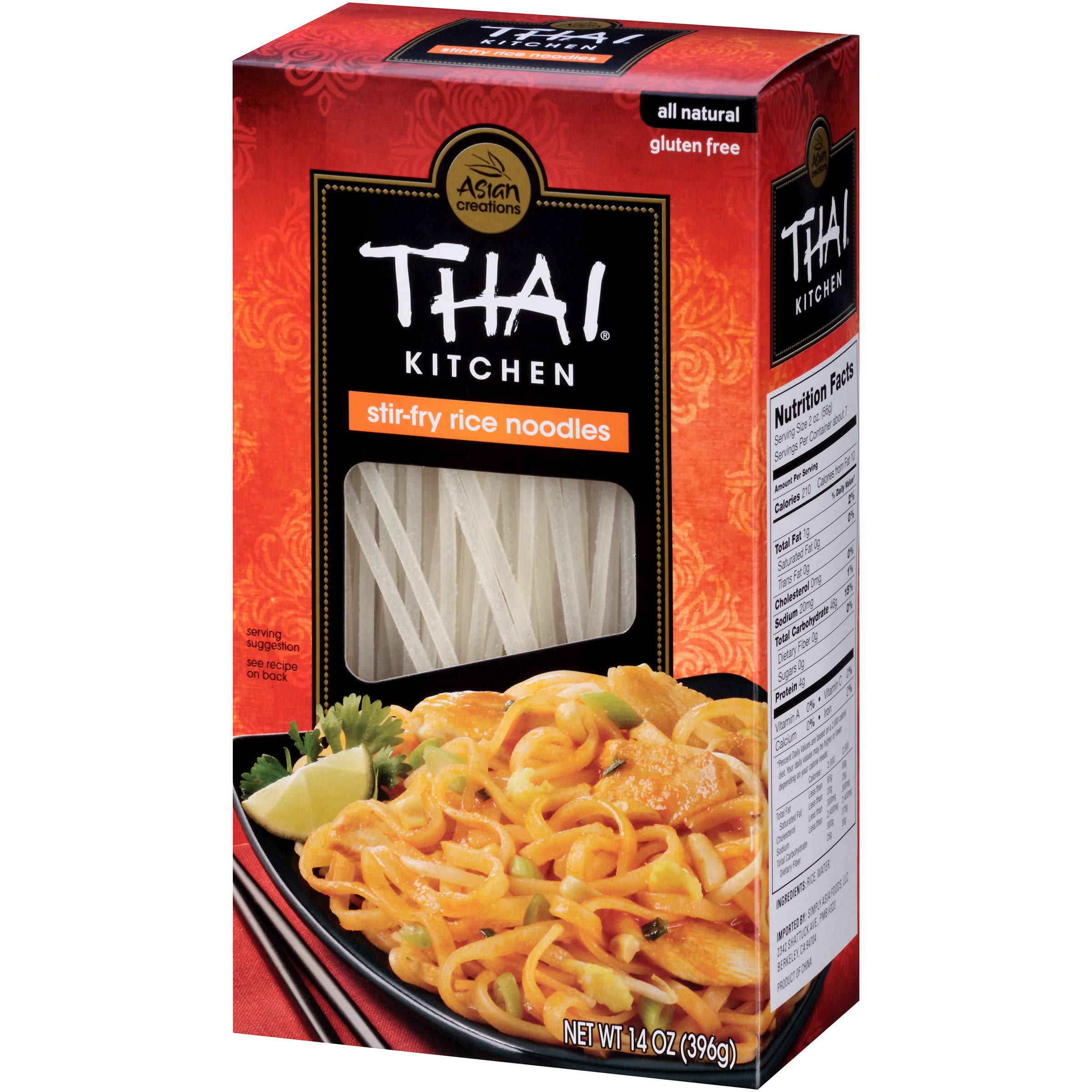 Amazon.com : Thai Kitchen Gluten Free Thin Rice Noodles, 8