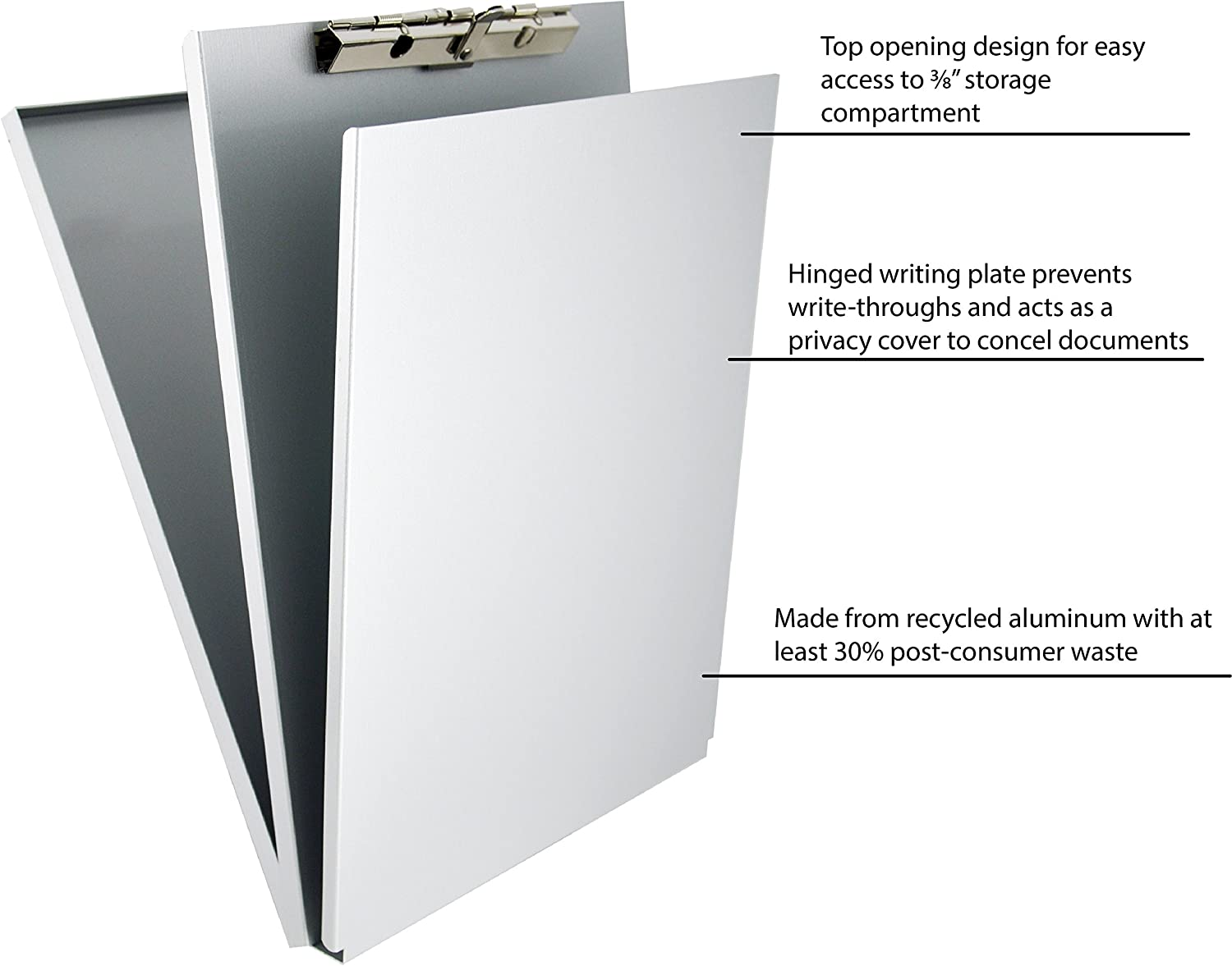 Saunders Recycled Aluminum A-Holder Form Holder – Letter Size Form Holder with Hinged Writing Plate. Office Supplies : Clipboards : Office Products