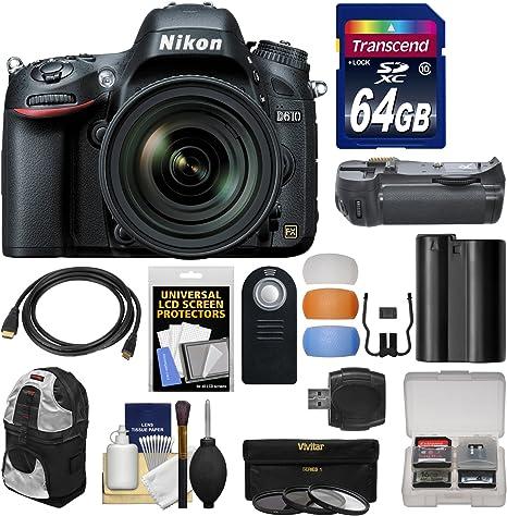 Cuerpo de la cámara réflex Digital Nikon D610 con 24 – 120 mm VR ...