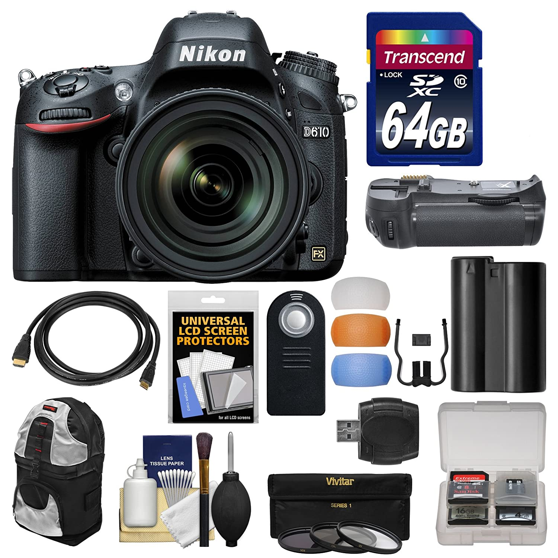 Cuerpo de la cámara réflex Digital Nikon D610 con 24 - 120 mm VR ...