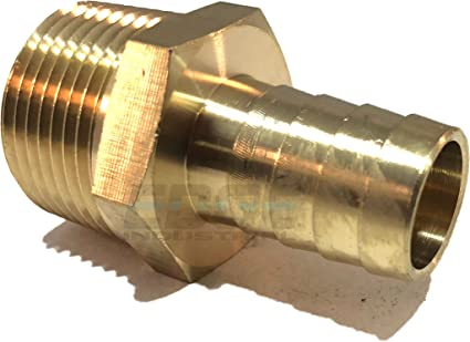 """Edge Industrial 5//8/"""" Hose ID to 1//4/"""" Male NPT MNPT Straight Brass Fitting Fuel"""