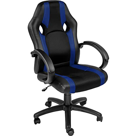 TecTake Silla de Oficina Sillon de despacho Ejecutivo Estudio giratoria Racing - Disponible en Diferentes Colores - (Azul | no. 402160)