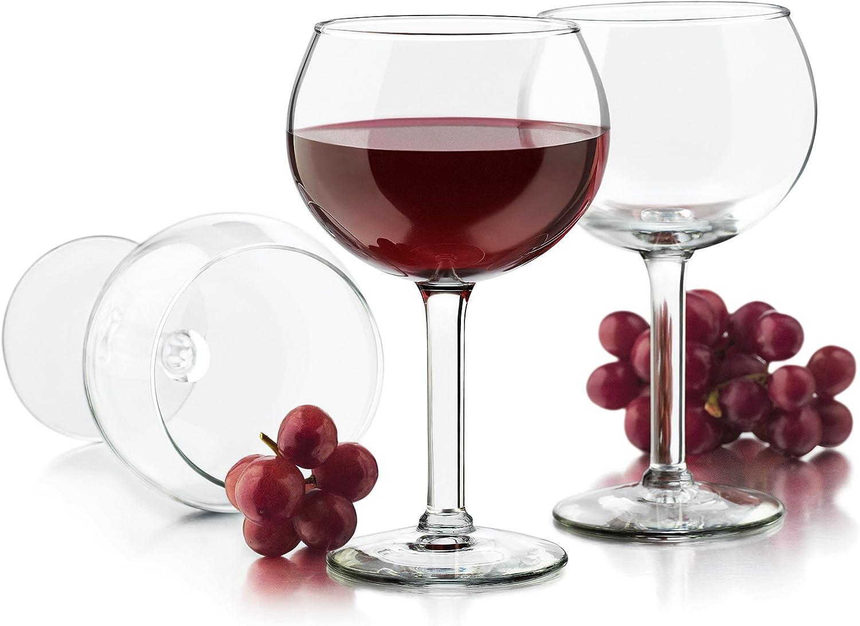 Libbey 13.7-Ounce Preston Red Wine Glass Clear 4-Piece