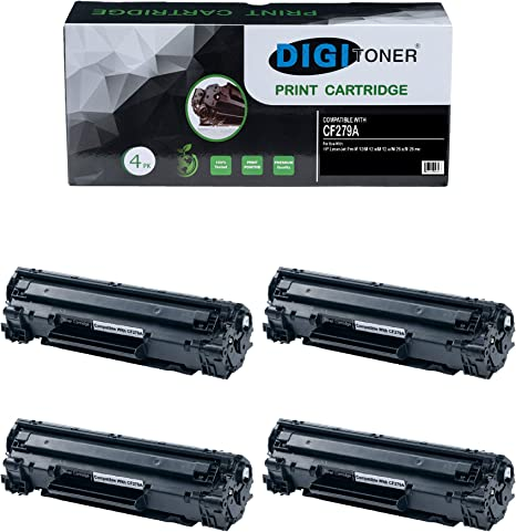 4 Pack CF279A 79A Laser Toner Cartridge for HP LaserJet Pro M12a M12w M26a M26nw