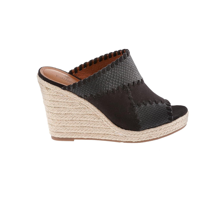 Ruff Hewn Caruso Wedge Espadrille Sandals B06XGVX41M 9.5 B(M) US|Black