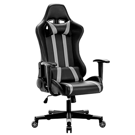 Terrific Intimate Wm Heart Racing Chair Computer Chair Pu Gaming Chair With Headrestlumbar Cushion 135 Degree Reclining Angle Grey Gamerscity Chair Design For Home Gamerscityorg
