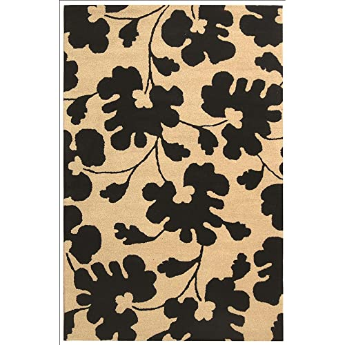 Safavieh Soho Collection SOH419A Handmade Beige and Black Premium Wool Area Rug 6 x 9