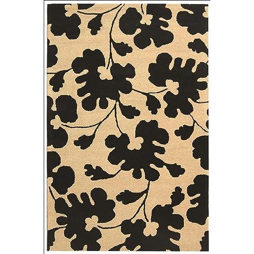 Safavieh Soho Collection SOH419A Handmade Beige and Black Premium Wool Area Rug 5 x 8