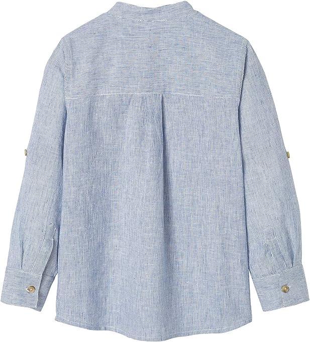 Vertbaudet - Camisa de cuello mao para niño (algodón/lino)