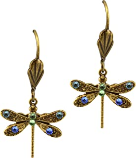 product image for Anne Koplik Antique Gold Plated Mini Dragonfly Dangle Earrings