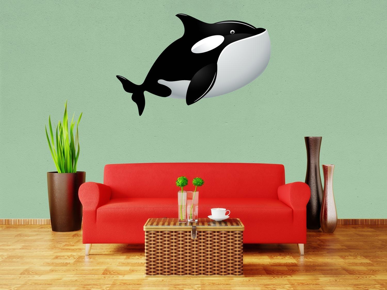 wandmotiv24 Adhesivos de Pared Gran Orca S - pequeña 46x30cm ...