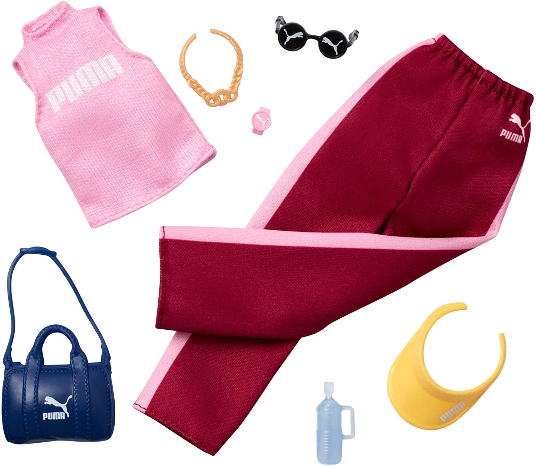 Amazon.es: Barbie - Pack de Moda Puma Ropa Rosada deportiva con ...