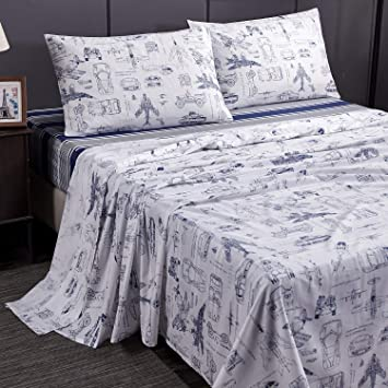 Kid Queen Size Bedding Sets.Brandream Queen Size Bedding Sets Kids Boys Sheets Set Cotton Cars Tank Helicopter Aircraft Military Transport Vehicles Bedding Sets For Kids Teen Boy