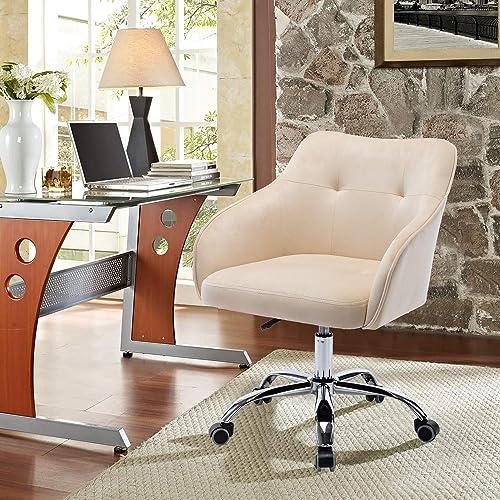 SSLine Modern Swivel Office Chair,Velvet Home Office Chair,Leisure Office Chair Desk Chair Task Computer Chair