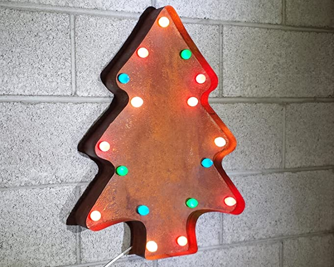Amazon Com Large 24 Nostalgic Christmas Tree Rustic Metal Vintage