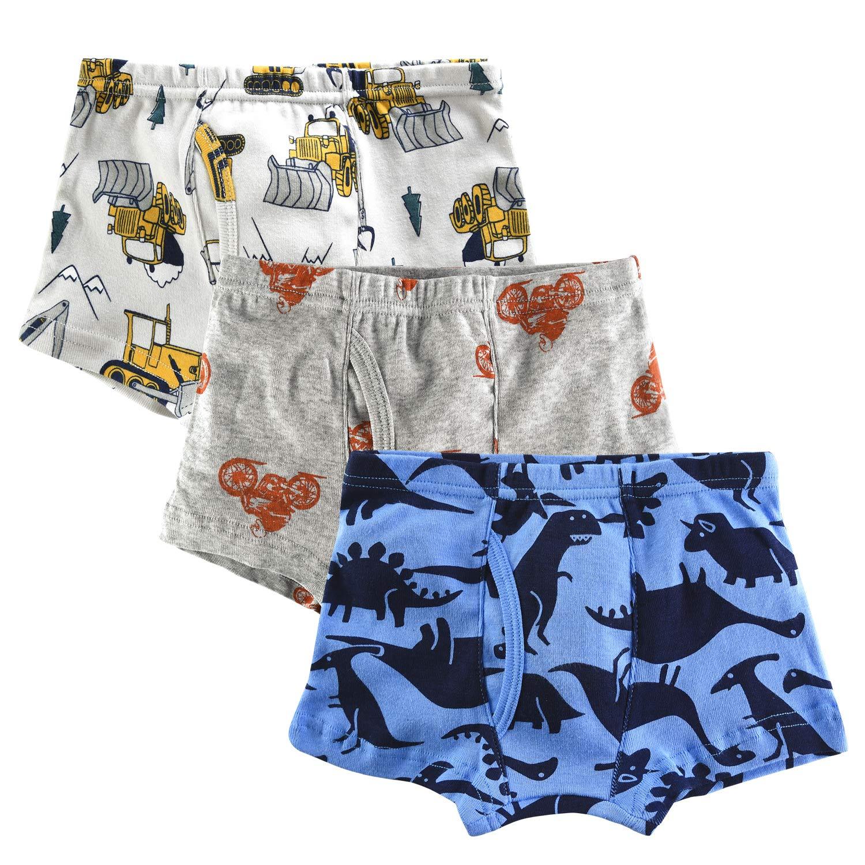 slaixiu Soft Cotton Kids Underwear Cartoon Boys Boxer Briefs 6-Pack (UW75-No.1-120)