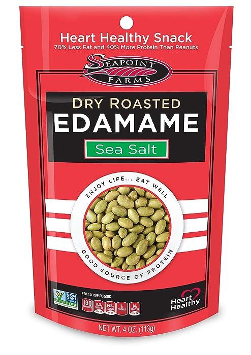Seapoint Farms Sea Salt Dry Roasted Edamame, 4 oz Gluten-Free Snack (12 pack)