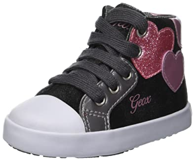 purchase cheap 9ce50 97de1 Geox Kilwi Girl 35 Sparkle Heart High Top Sneaker, Anthracite 20 Medium EU  Toddler (