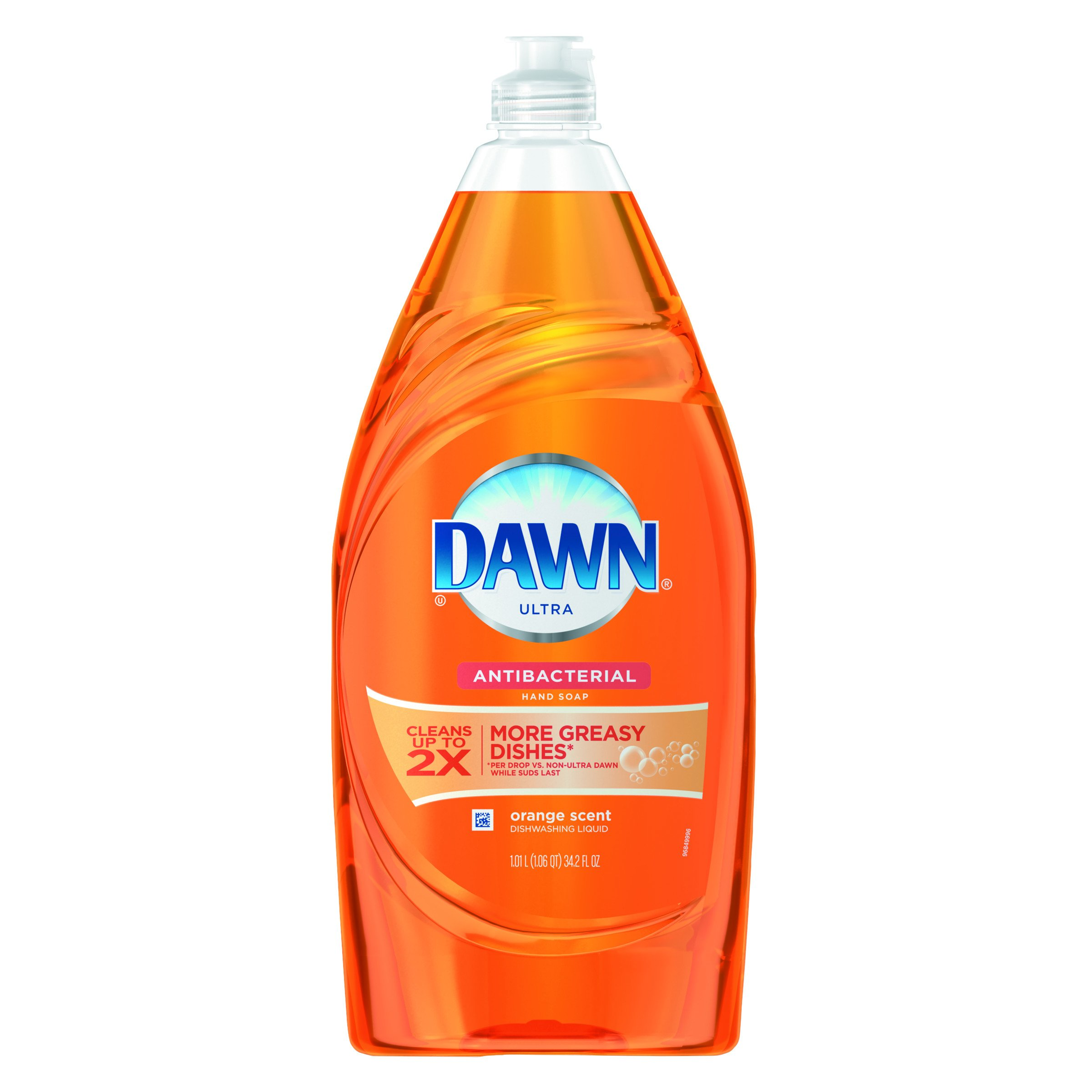 Dawn 91695CT Liquid Dish Detergent, Antibacterial, Orange Scent, 34.2 oz Bottle (Case of 8)