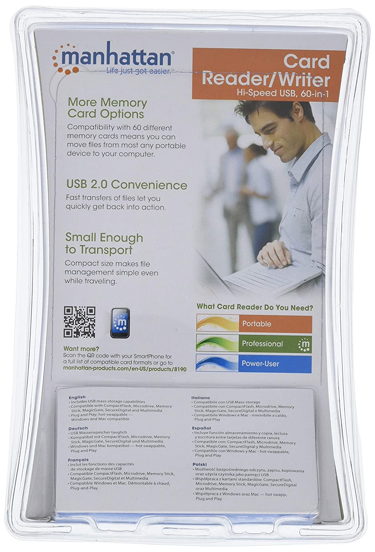 Manhattan 102049 Smartcard-Leseger/Ã/¤t Chipkartenleser USB extern schwarz