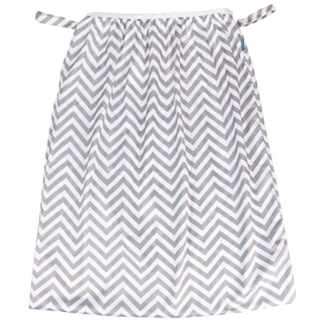 Teamoy Reusable Pail Liner for Cloth Diaper//Dirty Diapers Wet Bag Gray Chevron