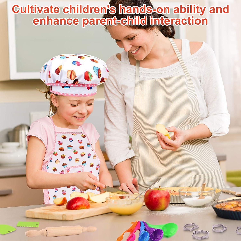 Xruison Giocattoli da Cucina per Bambini 23 PCS Kit da Cucina Set da Gioco Pentole Giocattolo Chef Set Gioco di Ruolo Regalo Educativo per Bambini Ragazze Ragazzi 3 4 5 6 7 8 Anni
