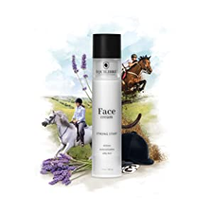 Équilibre – Cosmetics For Equestrians – Face Cream 'Strong Start' – Vegan, Cruelty-Free, Organic Lavender Essence, Supports Horse Rescues, Tested on Riders – 1.7 oz / 48.2 g