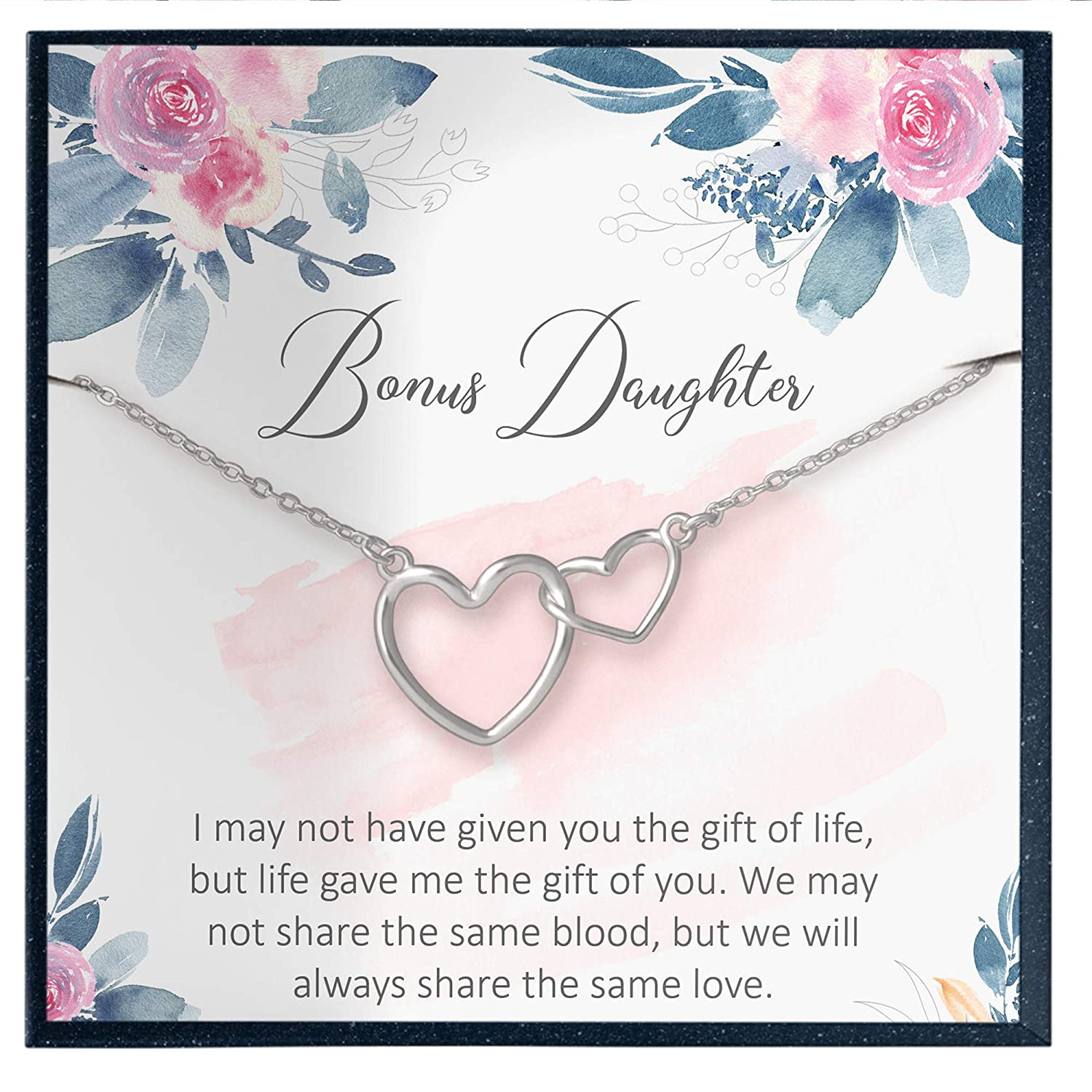 Bonus Daughter Necklace Step Daughter Gifts Muse Infinite Stepdaughter Jewelry Gifts Stepdaughter Quote Card Unbiological Daughter