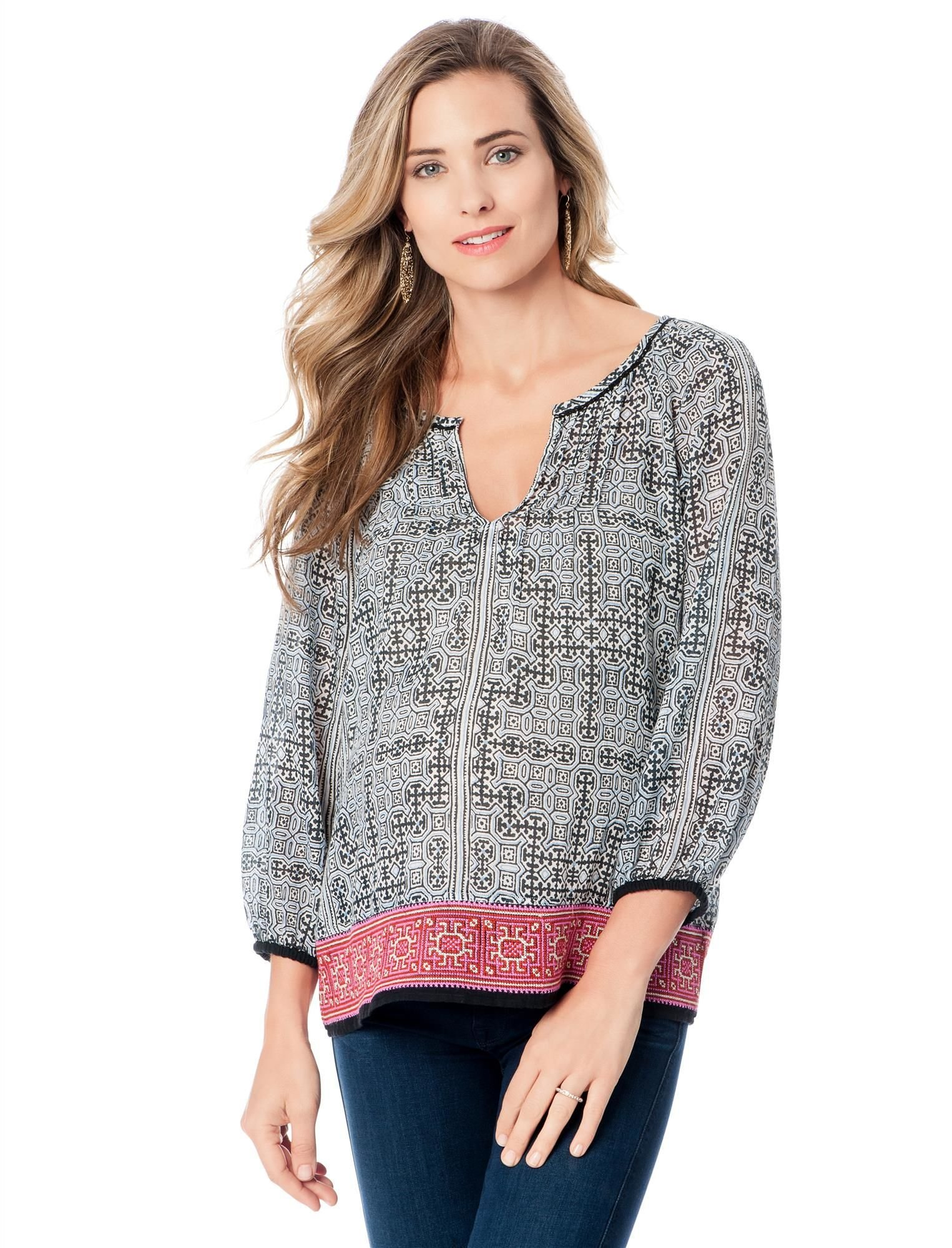 Joie Embroidery Maternity Top