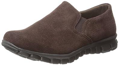 NoSoX Women's Wino Slip-on Shoes,Dark Brown Suede,6 ...