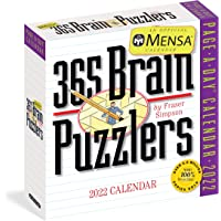 Mensa 365 Brain Puzzlers Page-A-Day Calendar 2022: A brain busting year of tough pangrams, word ladders, logic…