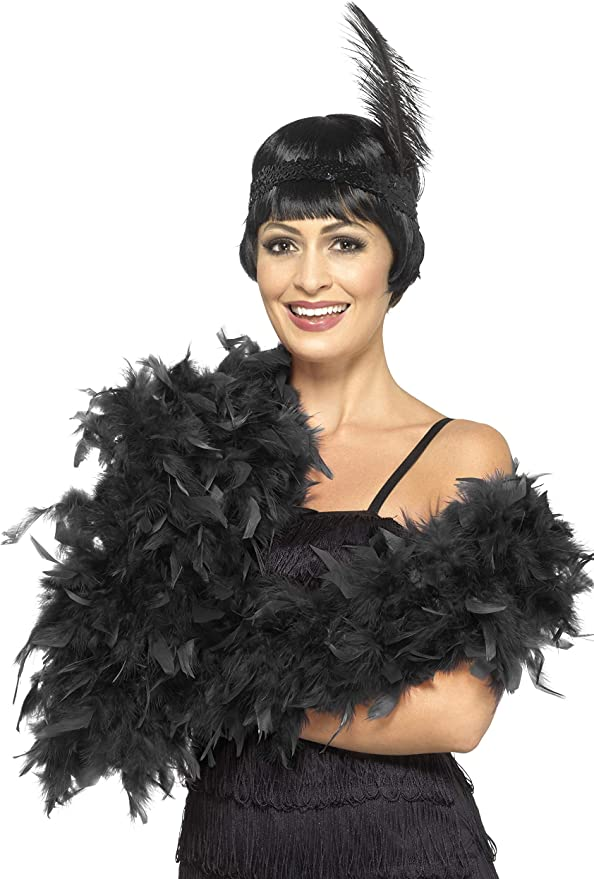 85G Thick real feather boa party fancy dress showgirl burlesque Yellow Luxury