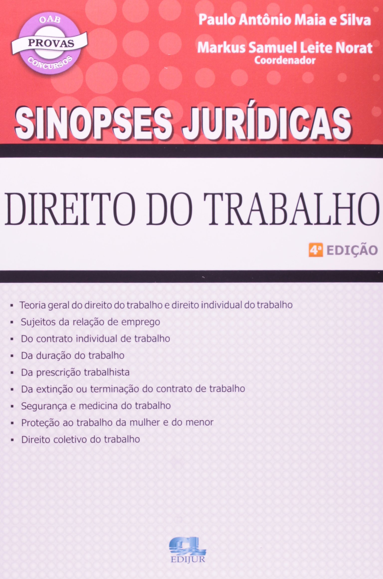Sinopses Juridicas - Direito Do Trabalho (Portuguese Brazilian) Paperback – 2000