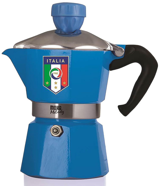 Bialetti Moka Melody Italy Cafetera Independiente, Azul, Estufa, De caf/é molido, Manual, 24 cm