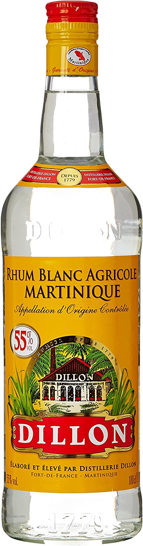 Rhum Blanc Dillon 55% 1L