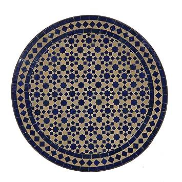 Table de jardin oriental   Table de mosaïque marocaine Ø 60 ...