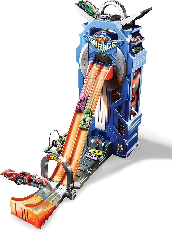 Hot Wheels - Supergaraje, garaje para coches de juguete (Mattel GWT34), Embalaje sostenible